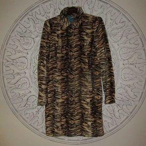 Guess Animal Print Leopard Coat
